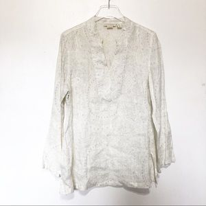 Cynthia Rowley Womens  100% Linen Tunic Top